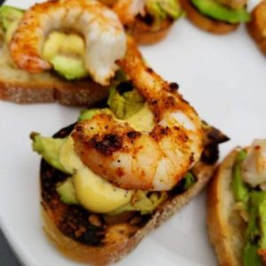 Berezan Shrimp and Grilled Avocado on Toast as Seen on Global TV BC