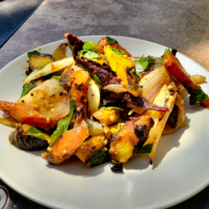 Grilled Carrot and Onion Salad