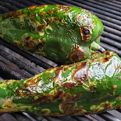 Grilled poblanos