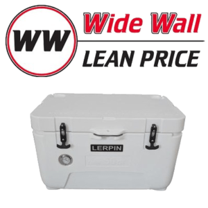 Lerpin 50QT Wide Wall Cooler with Thermometer