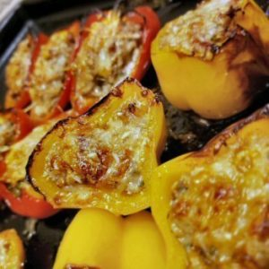 Moms stuffed mini peppers RV camping recipes