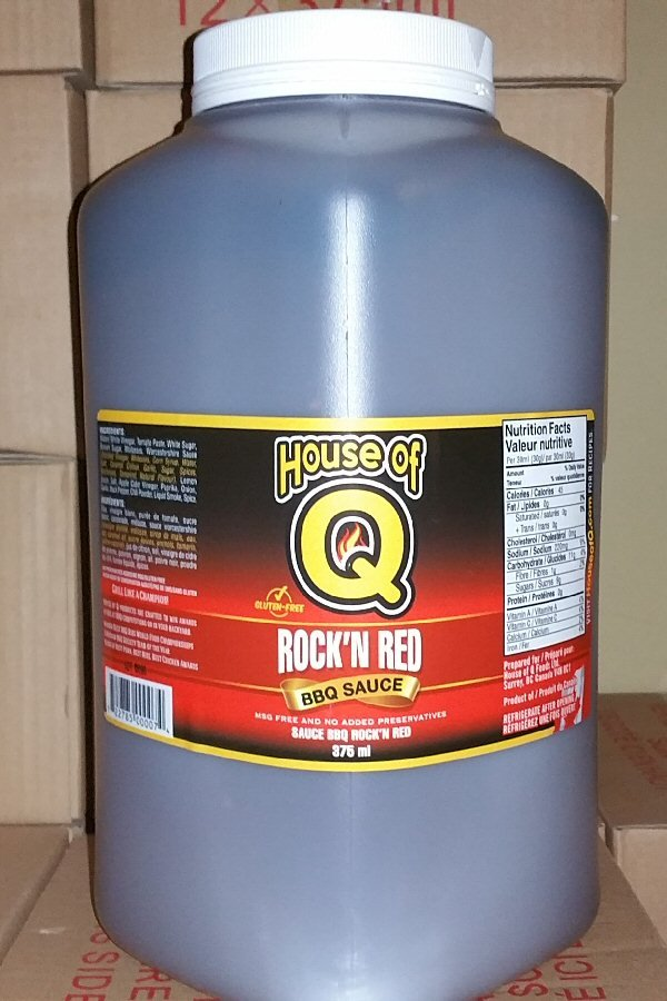 Rock'n Red BBQ Sauce RNR-gallon