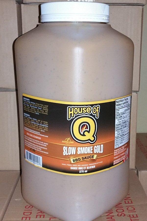 Slow Smoke Gold BBQ Sauce SSG-gallon