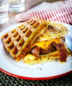 recipe grilled waffle burger
