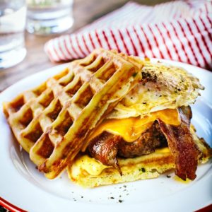 Grilled Waffle Burger
