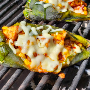 Grilled Chile Rellenos – Stuffed Peppers with Chicken