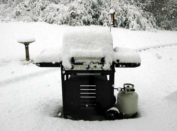 Snow Covered bbq